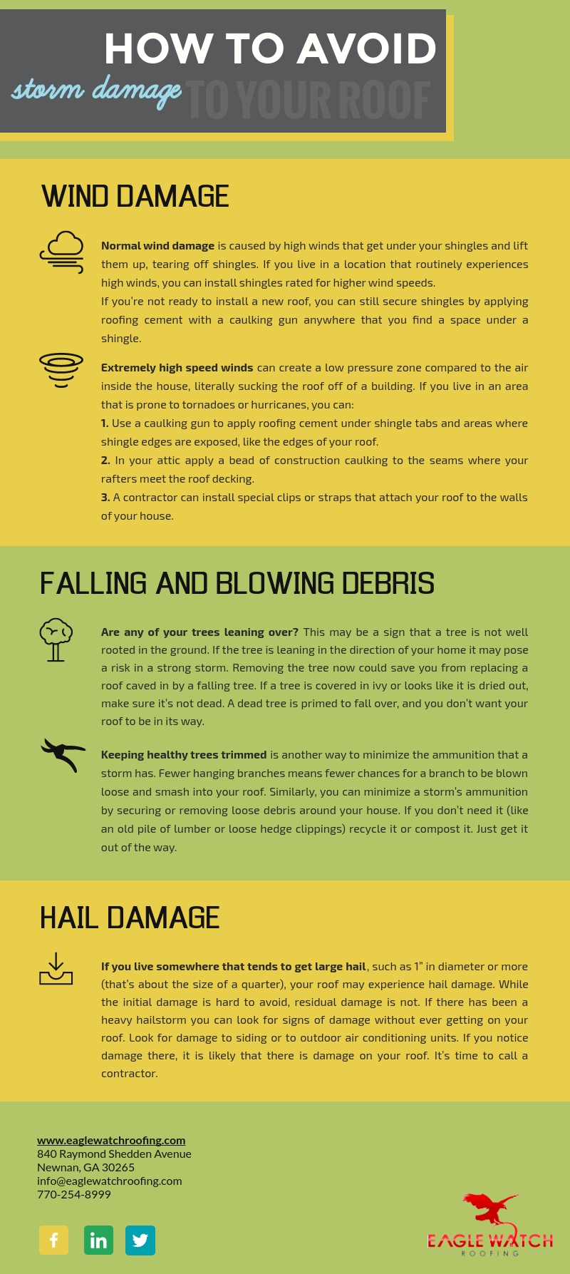 How to Avoid Damage to Your Roof [infographic]
