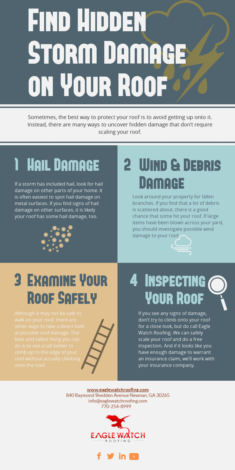 How to Find Hidden Storm Damage on Your Roof [infographic]