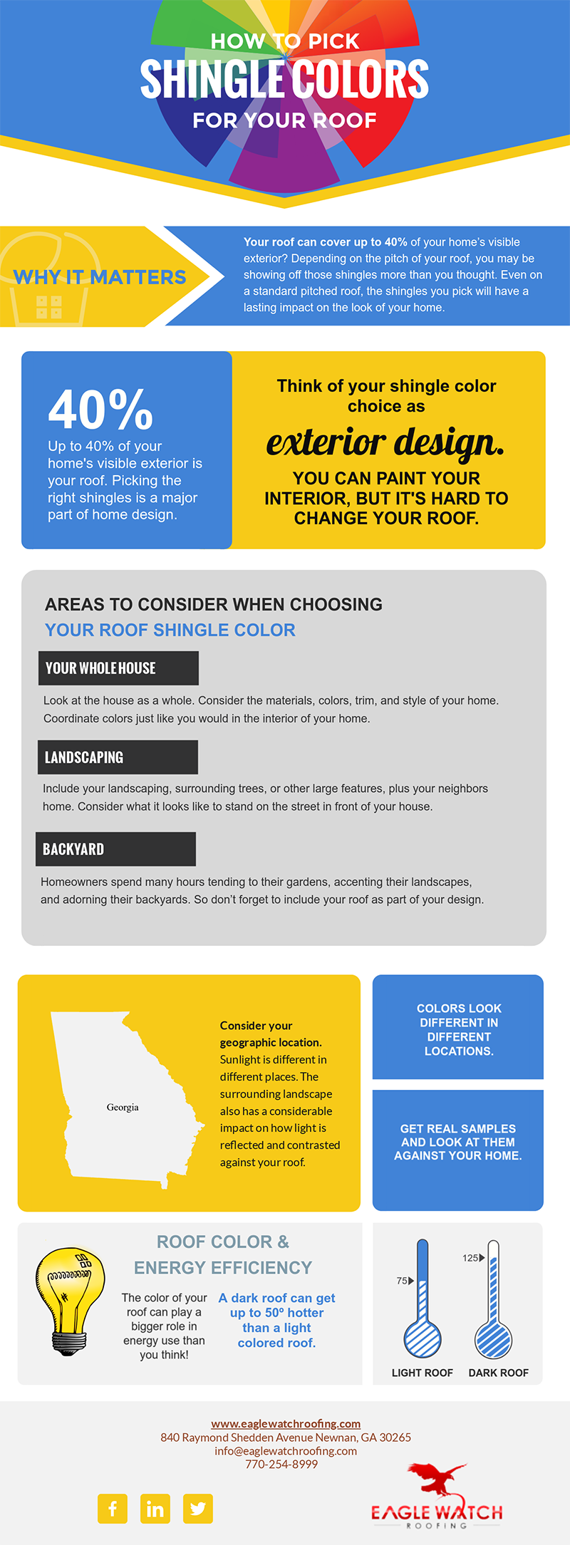 How to Pick Shingle Colors for Your Roof [infographic]