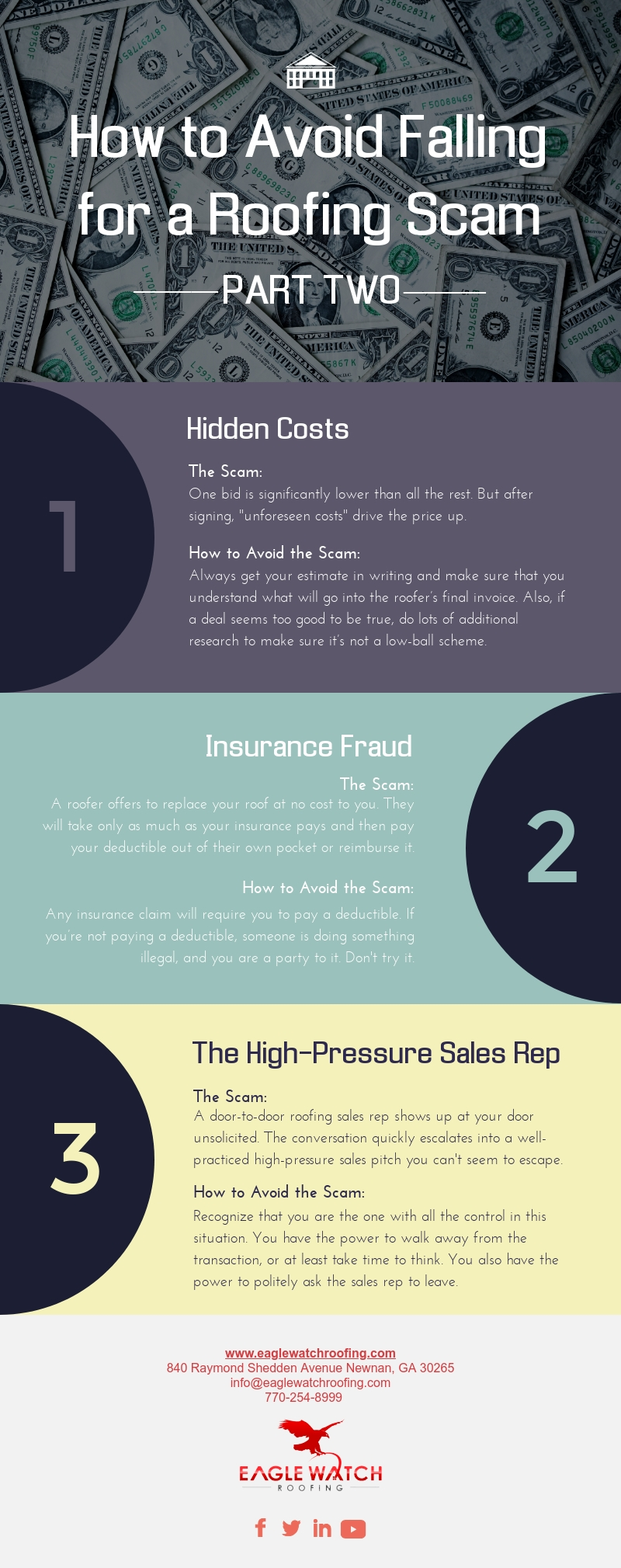 How to Avoid Falling for a Roofing Scam - Part Two [infographic]