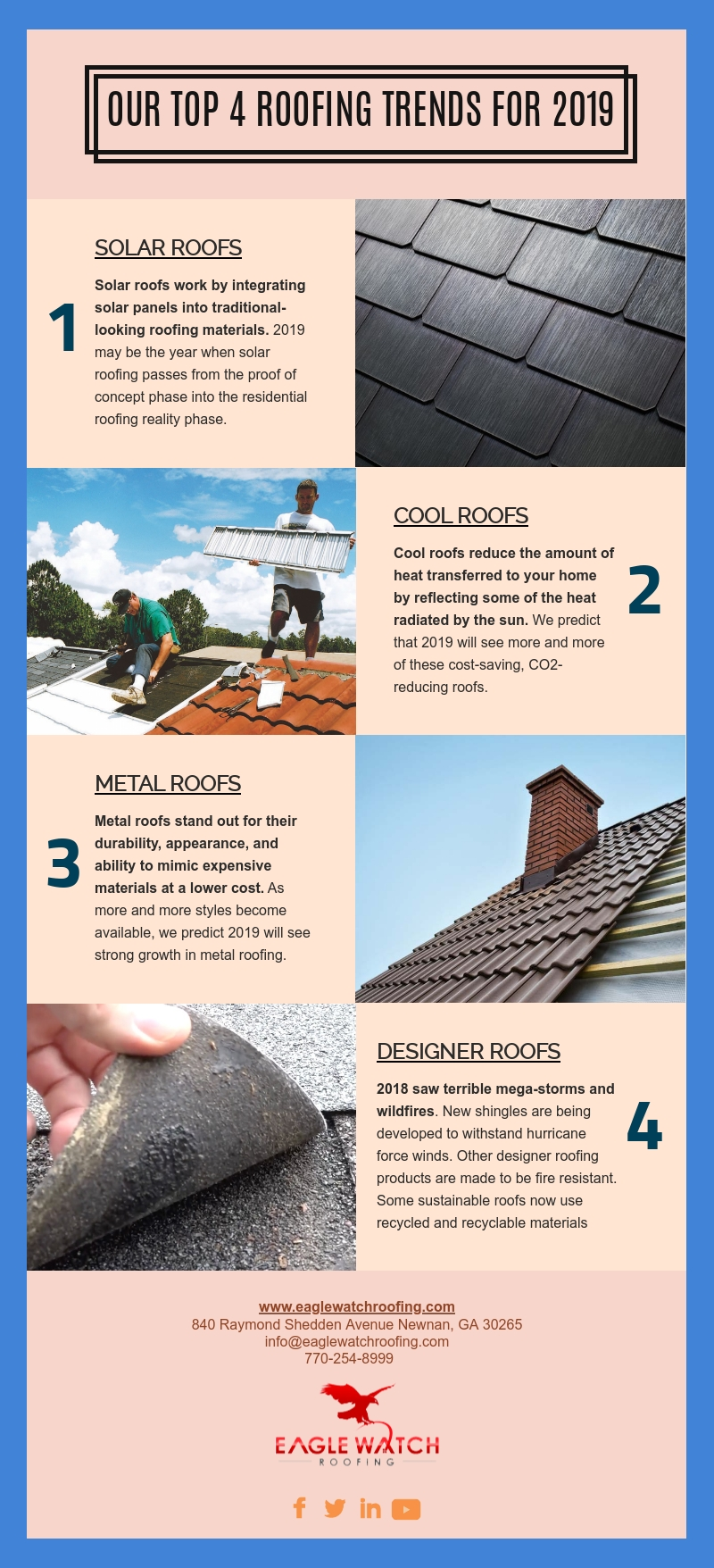 Our Top 4 Roofing Trends for 2019 [infographic]