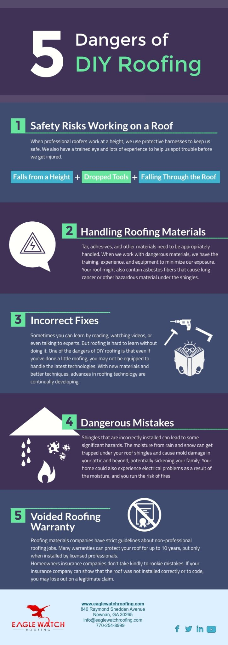 The Dangers of DIY Roofing [infographic]