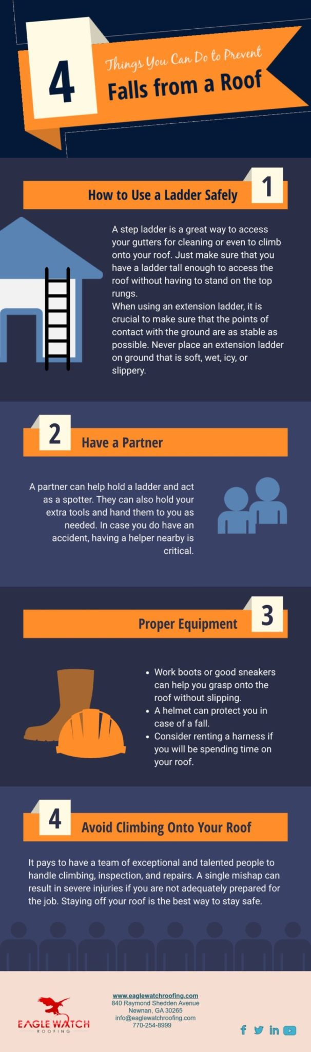 Ways to Prevent Falls On Your Roof [infographic]