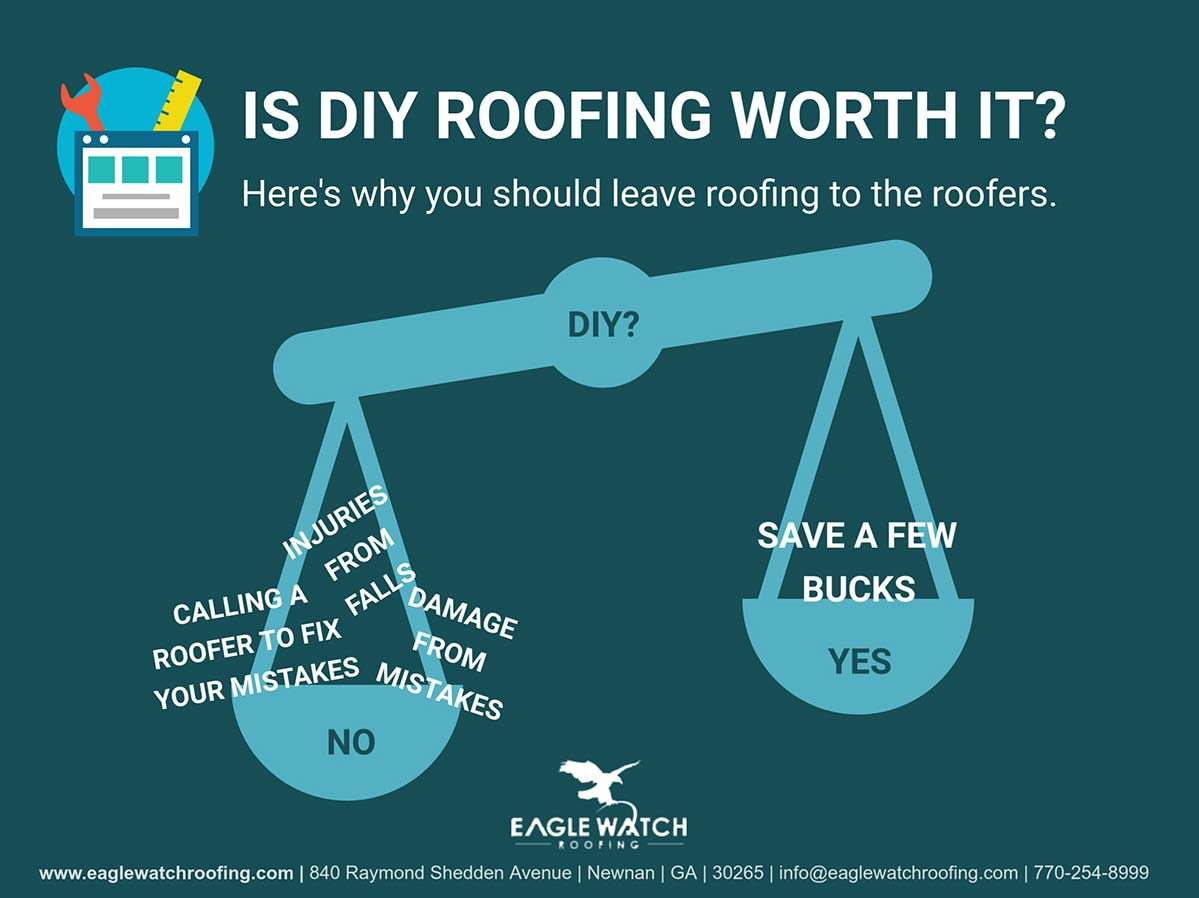 Is DIY Roofing Worth It [infographic]