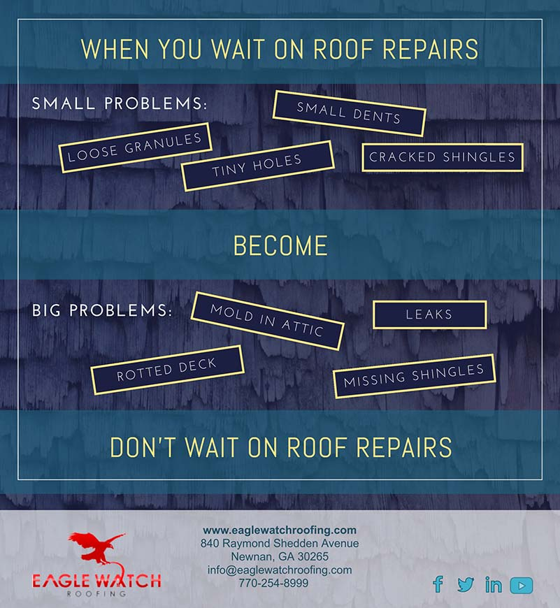 Don't Wait to Fix Roofing Problems [infographic]