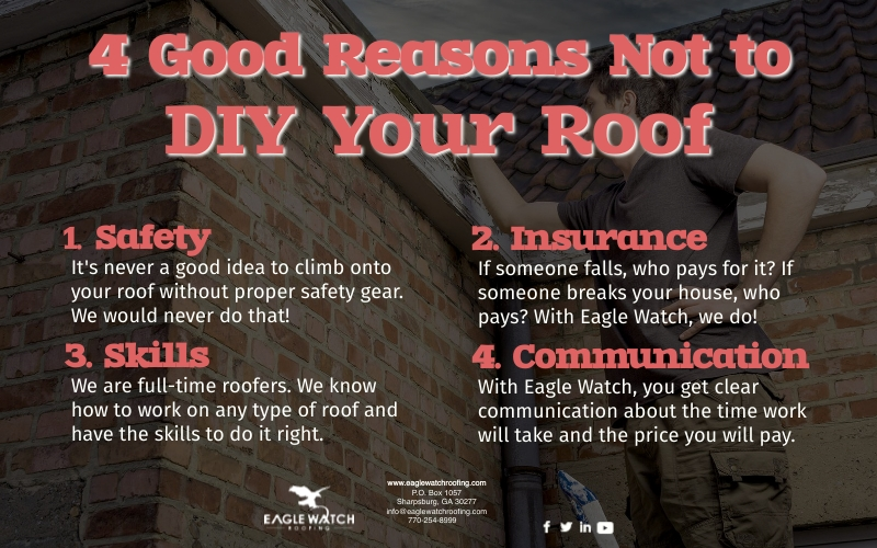 Do You Really Want to DIY Your Roof [infographic]