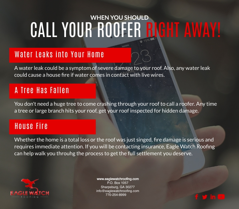 When You Should Call Your Roofer Right Away [infographic]