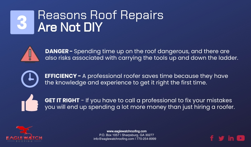 Three Reasons Not to DIY Your Roof [infographic]